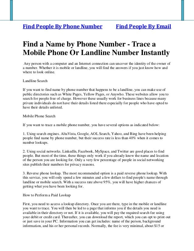 find people by their mobile number