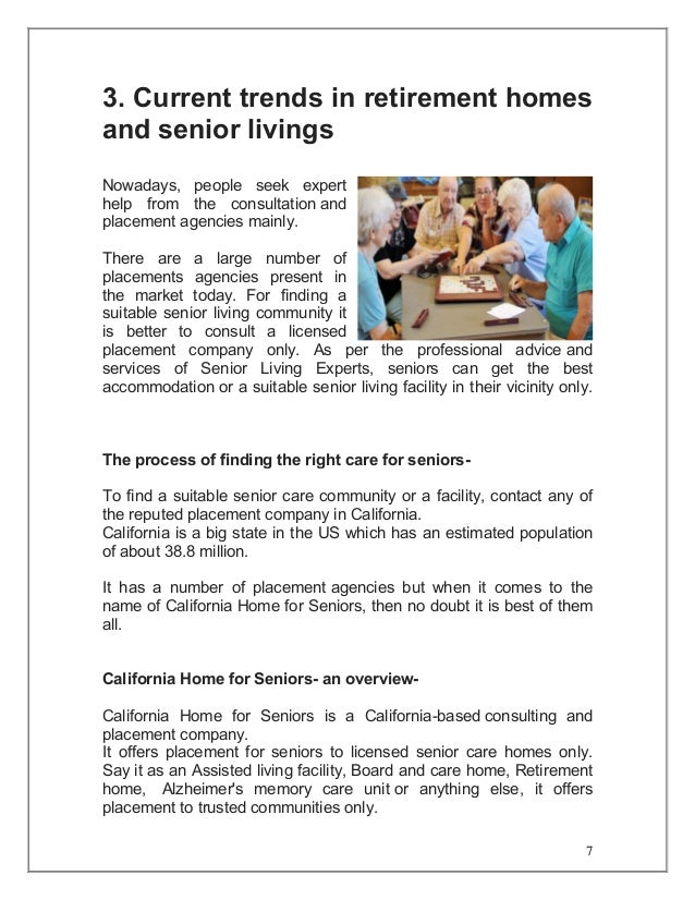 Find an Assisted Living facilities in California