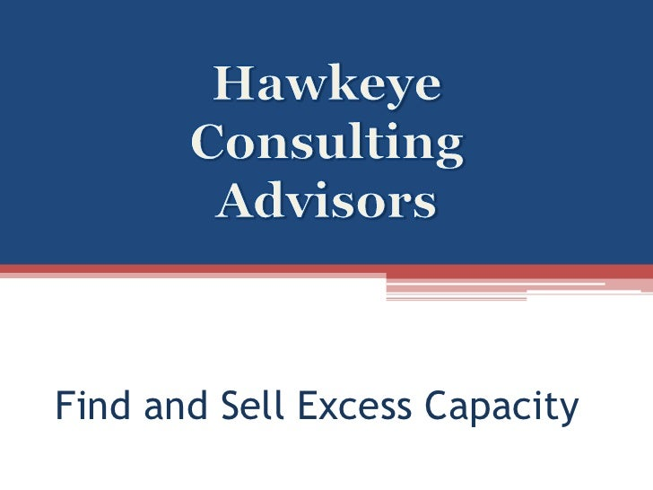 Find and Sell Excess Capacity