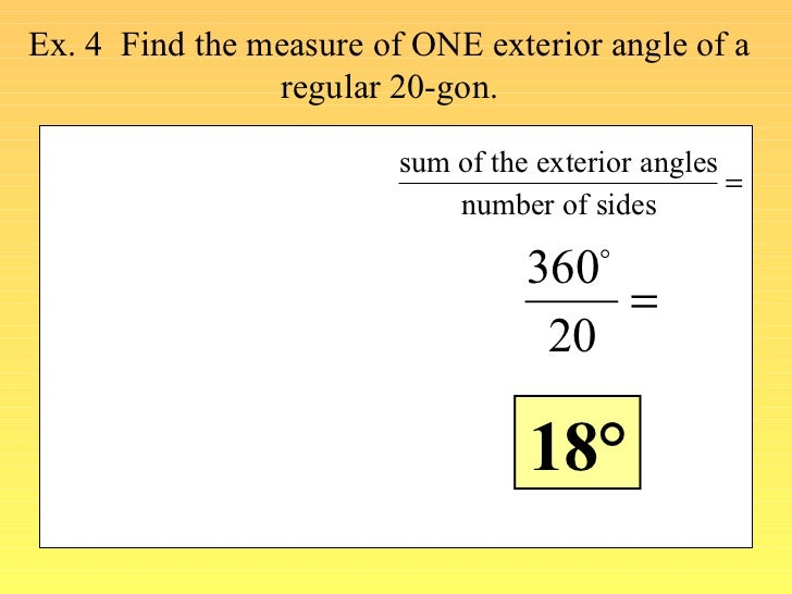 Find angle measures in a polygon - Sum of exterior angles of polygon ...