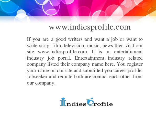 find a script writer jobs 4 indiesprofile com if you are a good writers