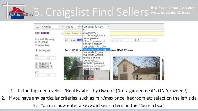 Find buyer and seller leads on craigslist