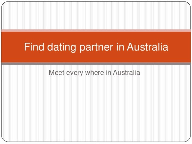 Find a partner in australia