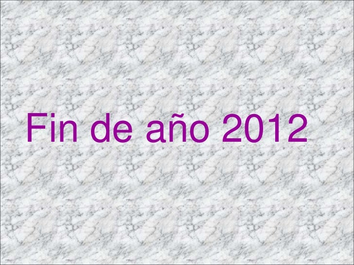 Fin de año 2012