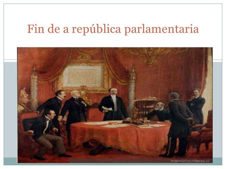 Fin de a república parlamentaria
