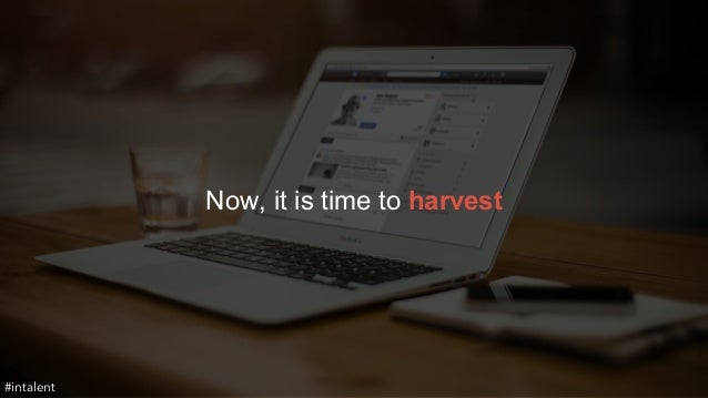 Now, it is time to harvest  #intalent