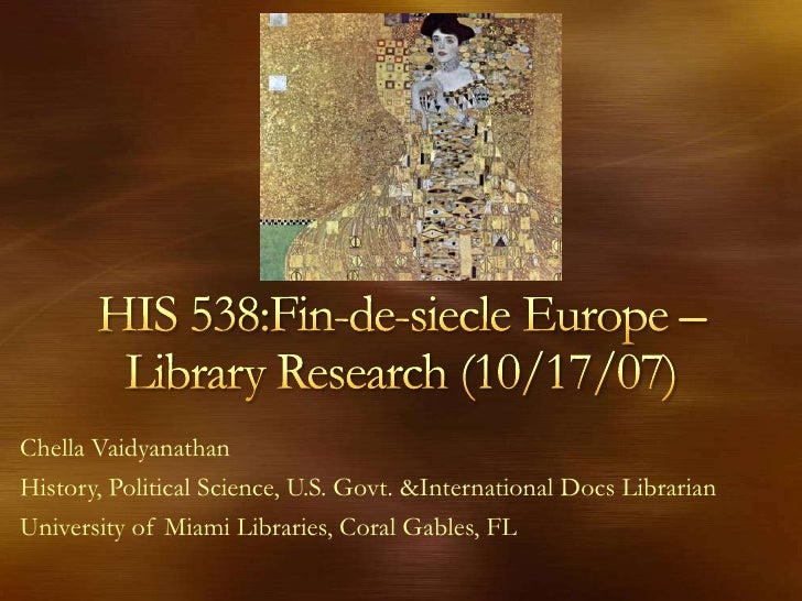 Chella Vaidyanathan History, Political Science, U.S. Govt. &International Docs Librarian University of Miami Libraries, Co...