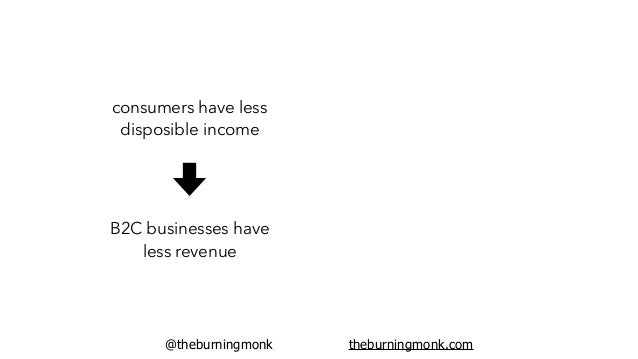 @theburningmonk theburningmonk.com consumers have less disposible income B2C businesses have less revenue