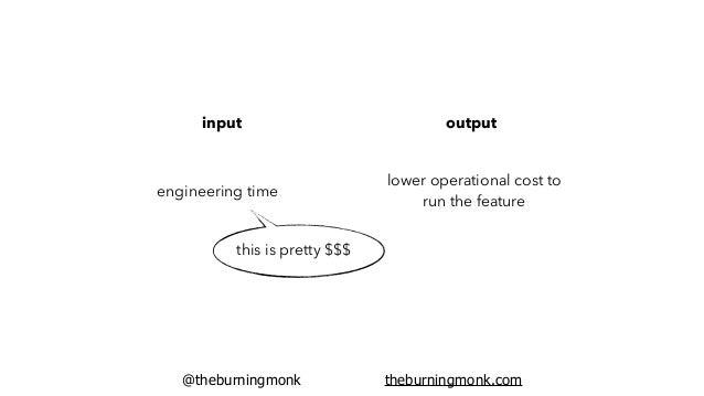 @theburningmonk theburningmonk.com cost of the conversation: ~$50 per dev per hour x 8 = $400 potential saving: $10/month