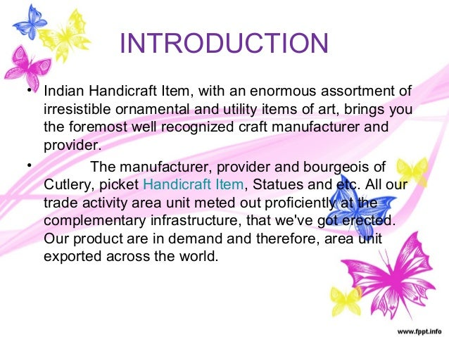about handicrafts
