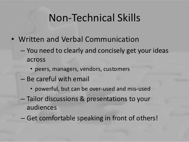 non technical essays What's the difference between technical and non the perceived dichotomy between technical and non-technical which so many at writing.