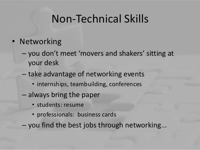 non technical skills resumes