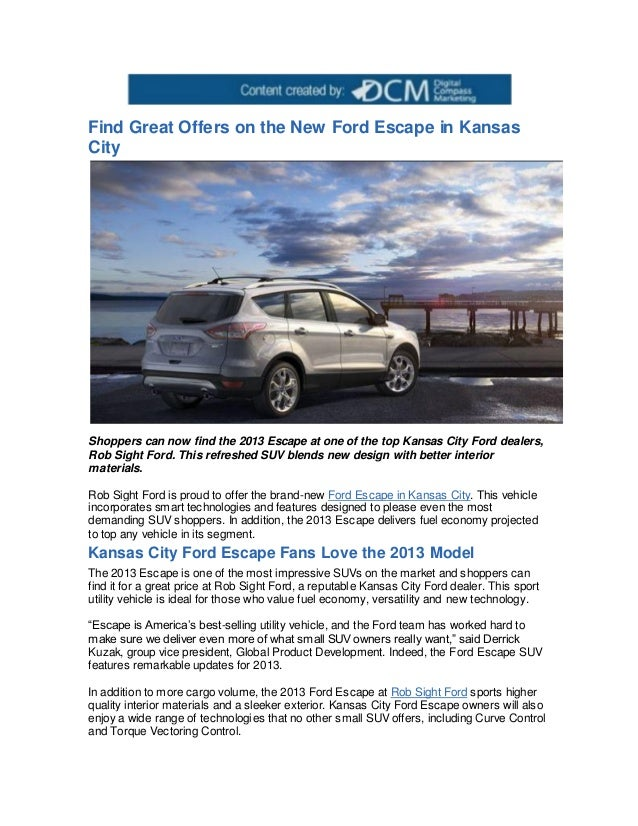 Kansas City Ford Dealers >> Find Great Offers On The New Ford Escape In Kansas City
