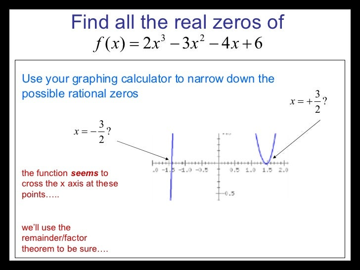 How To Find Complex Zeros Of A Polynomial Function Graph