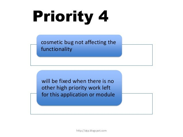 Priority 4 cosmetic bug not affecting the functionality  will be fixed when there is no other high priority work left for ...