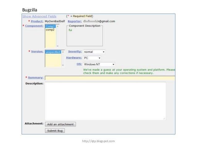 Bugzilla  http://qtp.blogspot.com