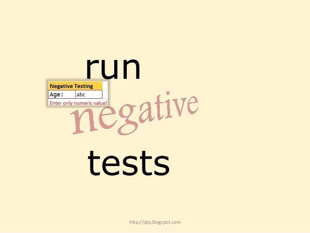 run tests http://qtp.blogspot.com