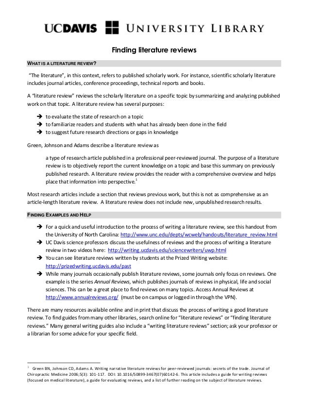 Unsw medicine literature review