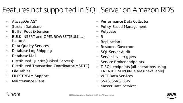 Finding the Best Fit: Deploying SQL Server on Amazon RDS & Amazon EC2…