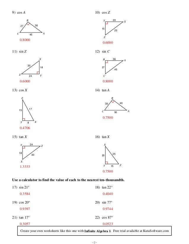 Printable Worksheets trig ratio worksheets : Finding%20 trigonometric%20ratios