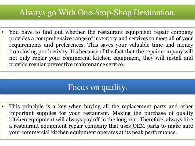 Finding A Good Commercial Food Appliance Repair Company