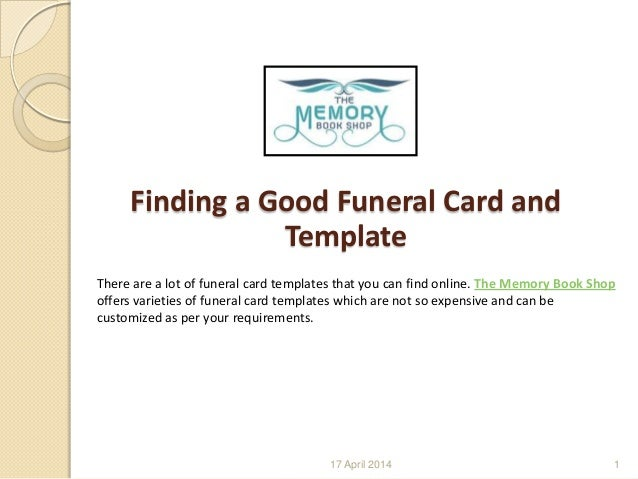 Memorial Donation Card Template