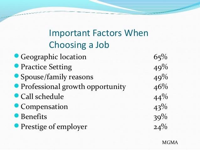 importance factors when choosing a career