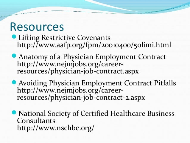 Finding a Job and Negotiating an Agreement in AllergyImmunology AA – Physician Employment Agreement