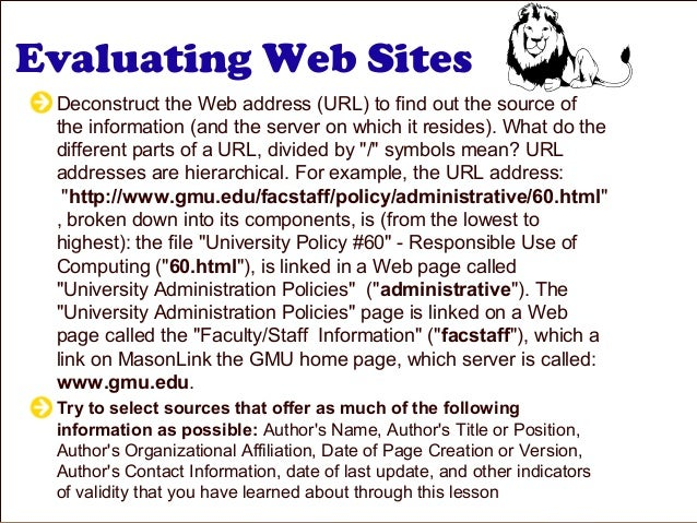 website credibility evaluation Websites create an interesting challenge in evaluating credibility and usefulness  because no two websites are created the same way.