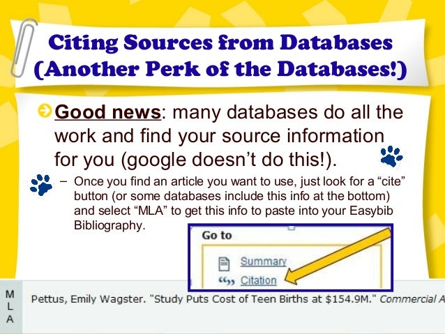 credible databases