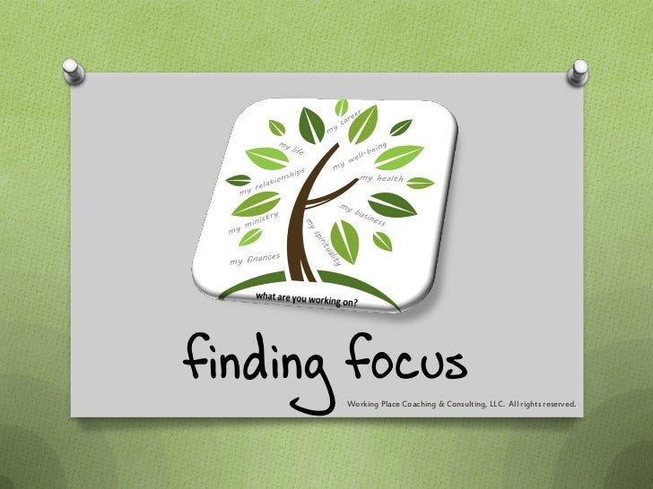 finding focus       Working Place Coaching & Consulting, LLC. All rights reserved.