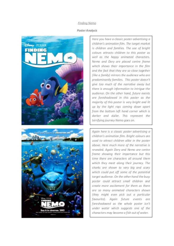 Finding nemo analysis finding nemobr poster analysisbr again here is a altavistaventures Gallery