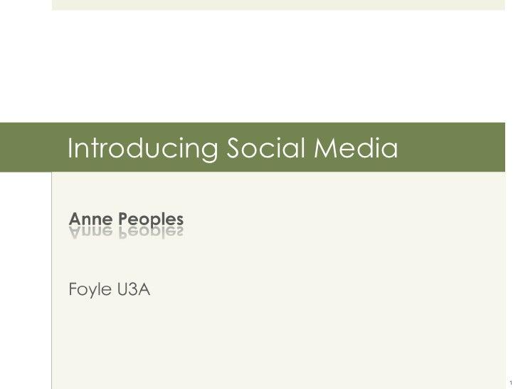 Introducing Social Media