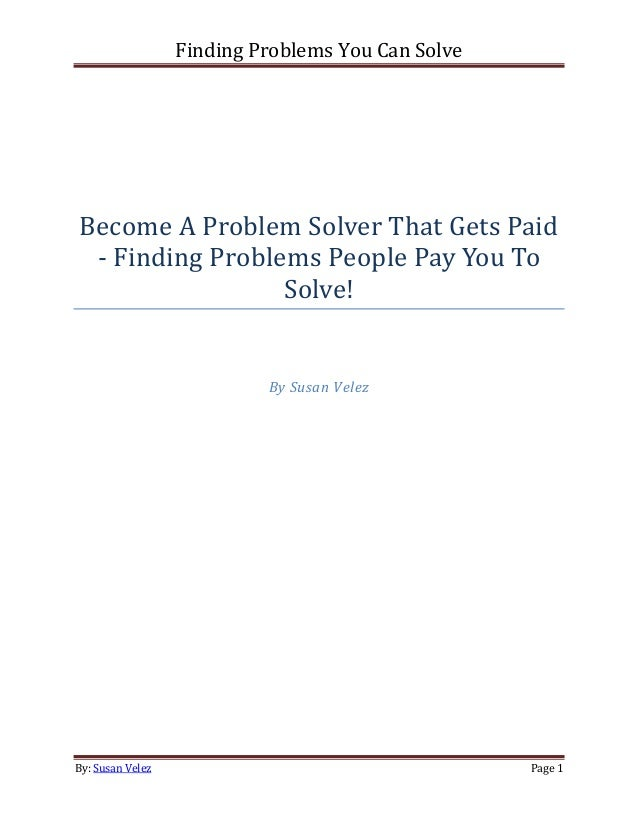 finding problems to solve