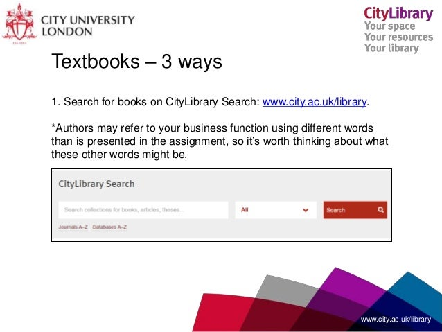 finding resources for your coursework