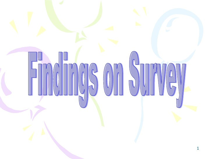 Findings on Survey