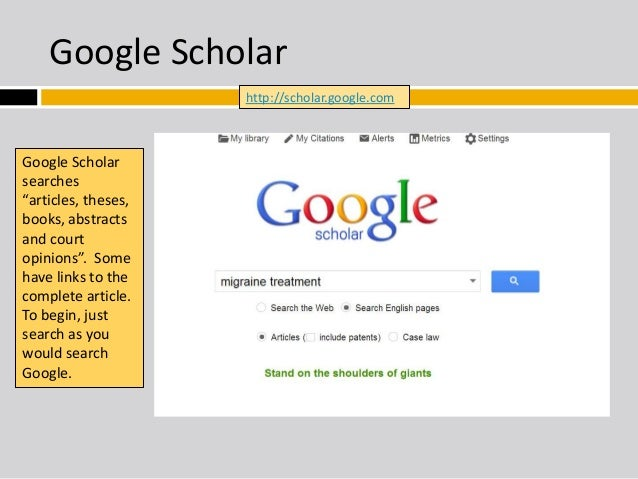 Whatever is Yahoo and google Scholar?