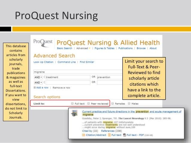Full text nursing dissertations