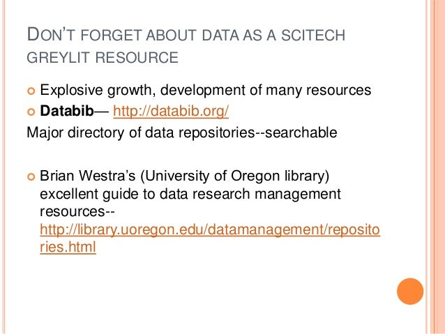 SCITECH GREYLIT DATABASES Agricola-- http://agricola.nal.usda.gov/ Agriculture and agriculture-related database from the U...