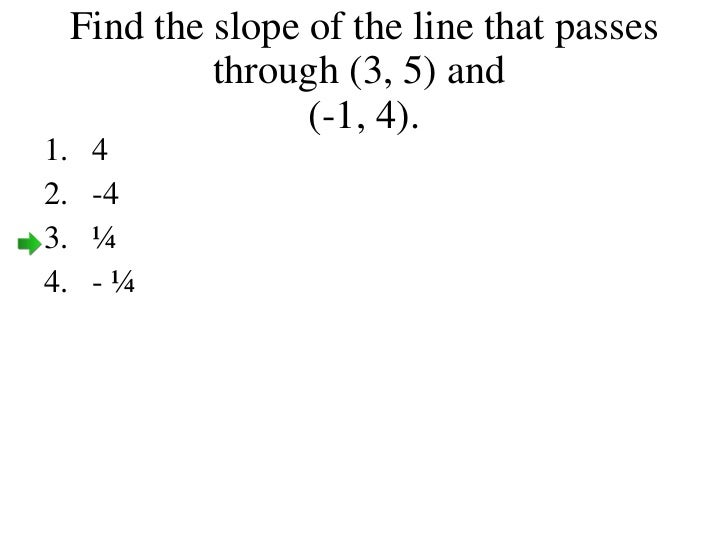 Finding slope given a graph and two points find the slope of the line that passes through ccuart Images