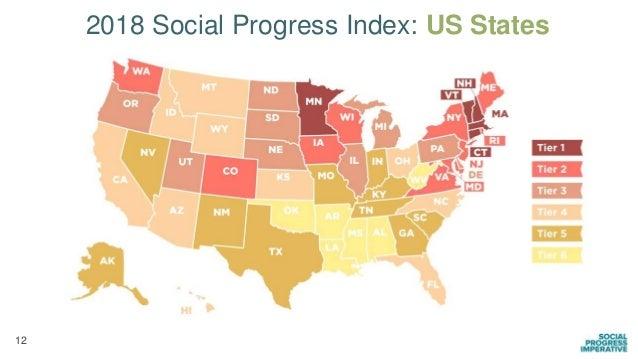 12 2018 Social Progress Index: US States