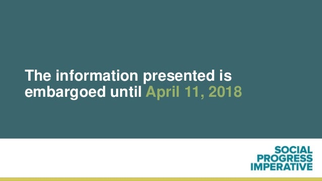 The information presented is embargoed until April 11, 2018