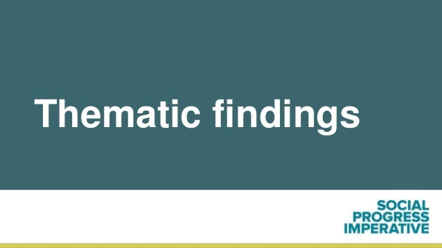 Thematic findings