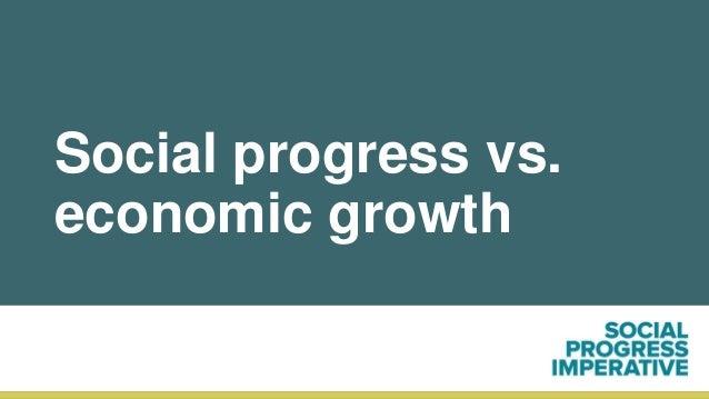 Social progress vs. economic growth