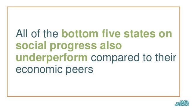 46 Over- and under- performers on the Social Progress Index: US States by political affiliation Overperformers Wisconsin M...