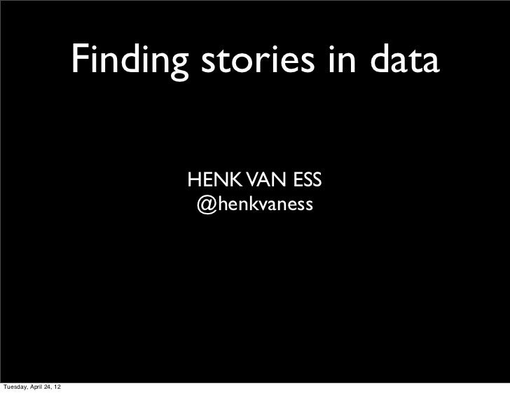 Different Data, Different Stories