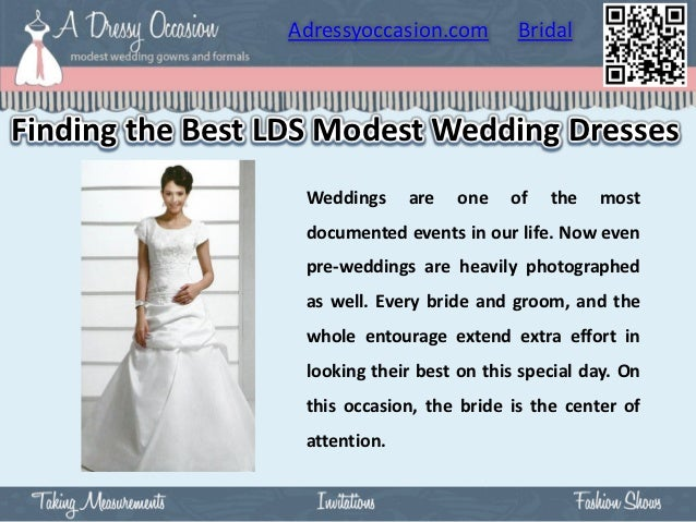 Adressyoccasion.com        BridalFinding the Best LDS Modest Wedding Dresses                  Weddings     are   one   of ...