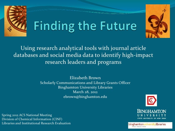 Using research analytical tools with journal article        databases and social media data to identify high-impact       ...