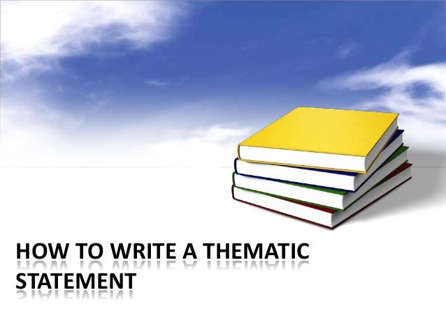 How to write a qualifying statements