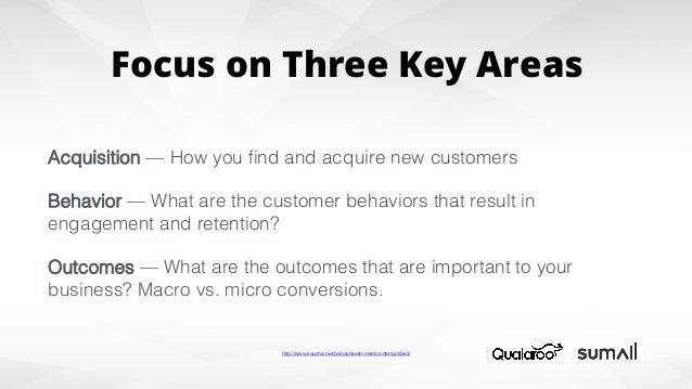 Micro Conversions Macro Conversions Email subscription! ! Whitepaper download! ! Page-depth! ! Share an article! Purchase!...